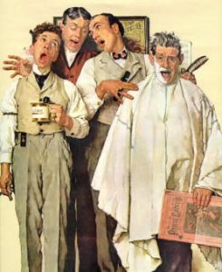 Norman Rockwell's Barbershop Quartet